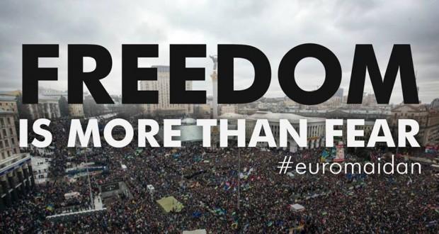A Euromaidan poster in English